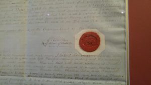 An example of an old South Australian seal of Probate circa 1880.